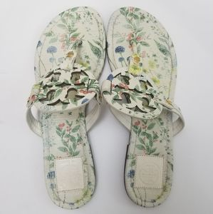 Tory Burch Miller Botanical Thong Sandals Size 9